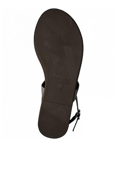 Tamaris Sandale de piele cu bareta separatoare si logo metalic Femei