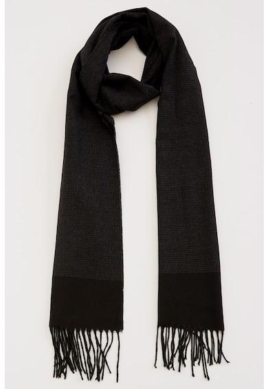 DeFacto Fular tricotat fin cu margini franjurate Barbati