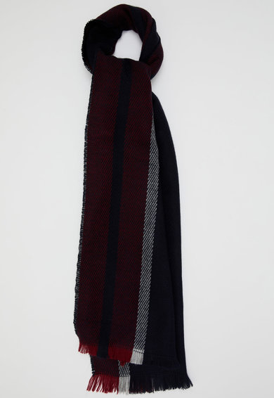 DeFacto Fular tricotat fin cu margini nefinisate Barbati