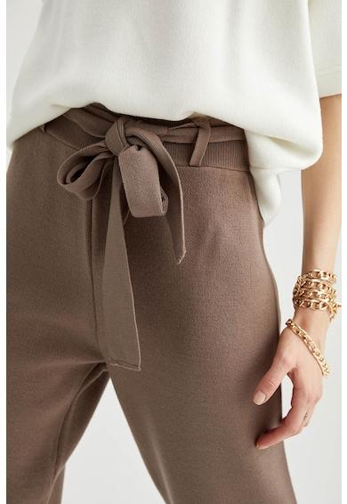DeFacto Pantaloni tricotati fin cu un cordon Femei