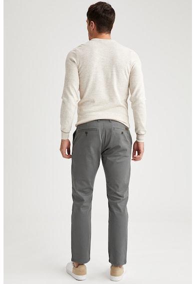 DeFacto Pantaloni chino din amestec de bumbac Barbati
