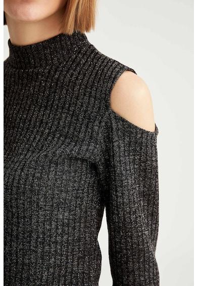 DeFacto Set de pulover cu decupaje pe umeri si fusta cu croiala creion Femei