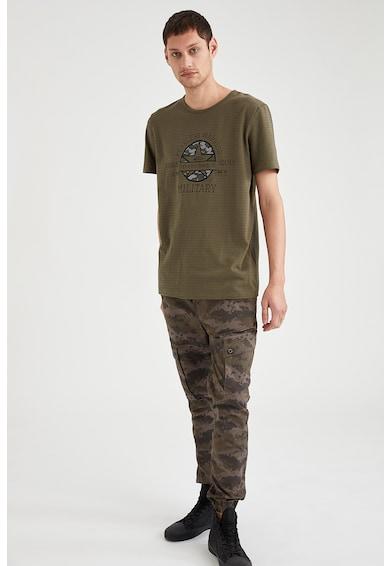 DeFacto Tricou din bumbac cu imprimeu Barbati