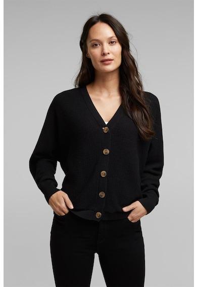 Esprit Cardigan din amestec de bumbac organic, cu aspect texturat Femei