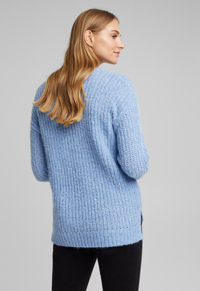 Esprit Pulover din amestec de lana, cu terminatie asimetrica Femei