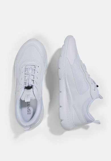 Esprit Pantofi sport de plasa si piele ecologica Femei