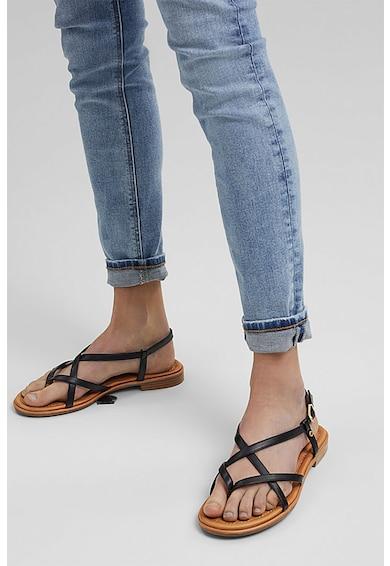 Esprit Sandale de piele ecologica cu bareta separatoare Femei