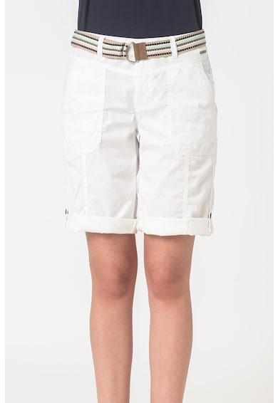 Esprit Pantaloni scurti de bumbac organic cu o curea Femei