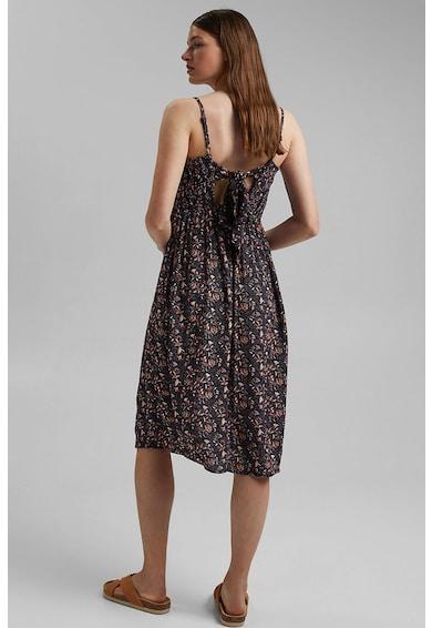 EDC by Esprit Rochie cu model floral si decupaj pe partea din spate Femei
