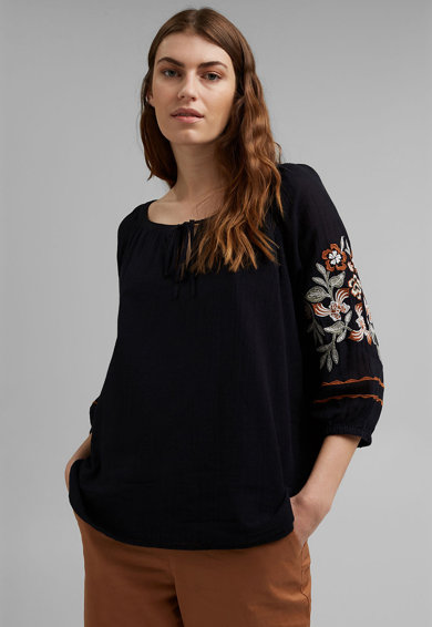 Esprit Bluza lejera din bumbac organic Femei