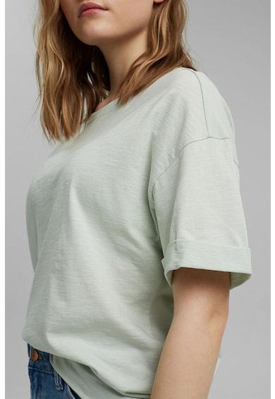 EDC by Esprit Tricou lejer de bumbac organic cu maneci cazute, 031CC1K328 Femei