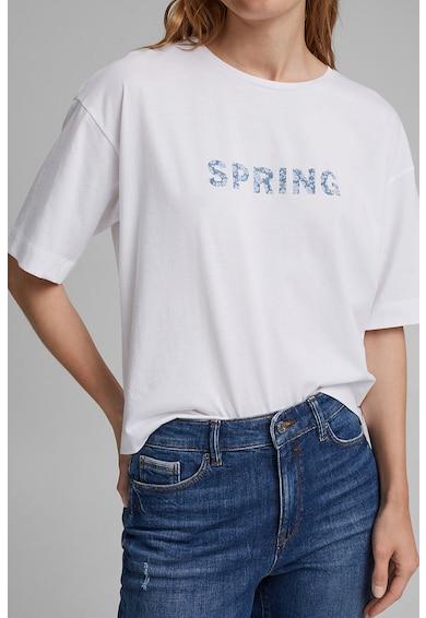 Esprit Tricou relaxed fit din bumbac organic cu imprimeu Femei