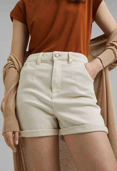 Esprit Pantaloni scurti din denim cu talie inalta Femei