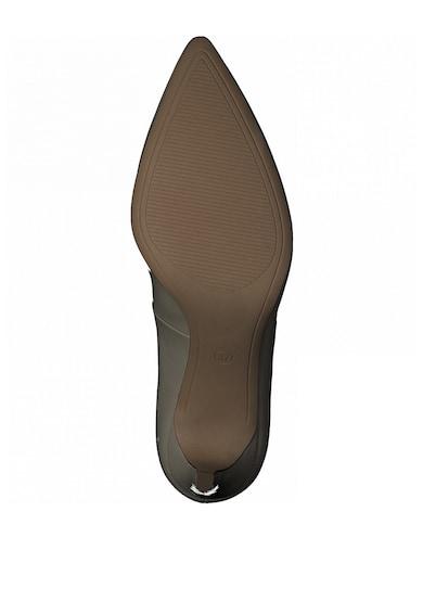 s.Oliver Pantofi de piele ecologica cu varf ascutit si aspect lacuit Femei