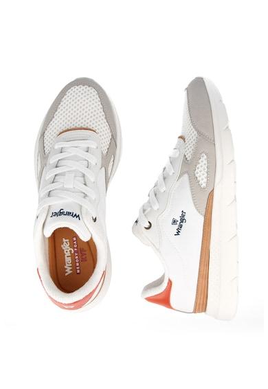 Wrangler Pantofi sport colorblock cu garnituri de piele intoarsa si plasa Cruise Barbati