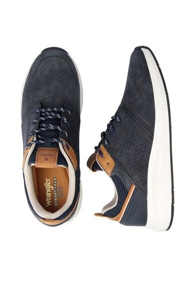 Wrangler Pantofi sport de piele intoarsa cu garnituri de piele Sequoia City Barbati