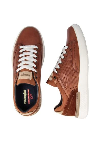 Wrangler Pantofi sport de piele cu garnituri de piele intoarsa Discovery Barbati