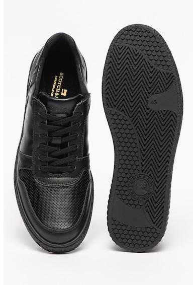 Scotch & Soda Pantofi sport de piele cu insertii de piele ecologica Brilliant Barbati