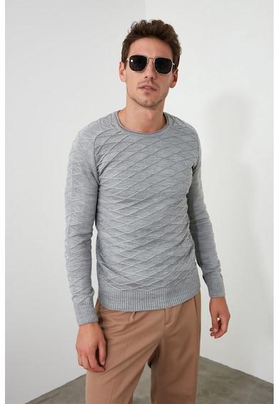 Trendyol Pulover tricotat fin cu design complex Barbati
