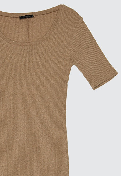 Trendyol Rochie cambrata si tricotata cu slit frontal Femei