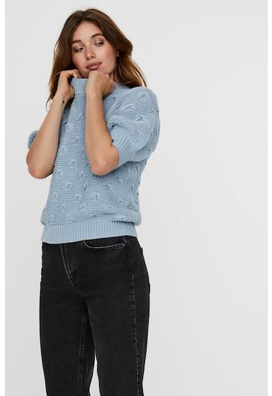 Vero Moda Pulover din amestec de bumbac organic cu maneci scurte Femei