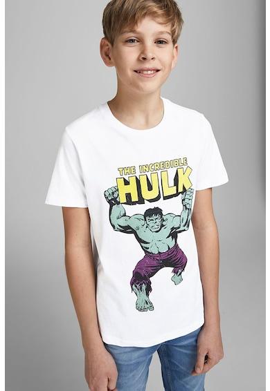Jack&Jones Tricou cu decolteu la baza gatului si imprimeu cu Supereroi Baieti