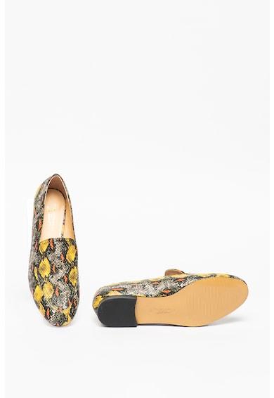 Tosca Blu Pantofi loafer cu model si aspect de piele de sarpe Femei