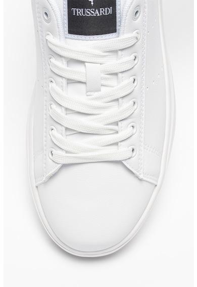 Trussardi Pantofi sport de piele ecologica cu detalii perforate Yrias Barbati