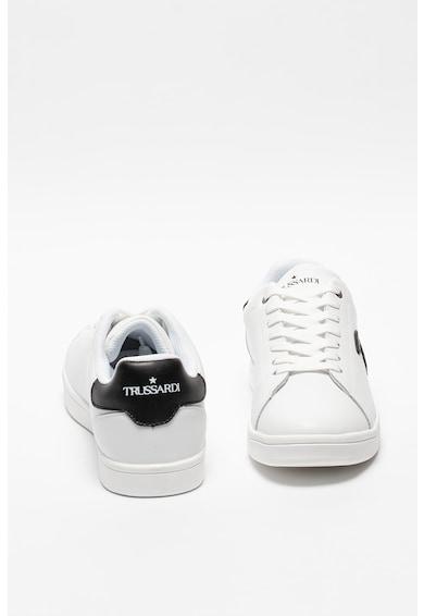 Trussardi Pantofi sport de piele cu aplicatie cu monograma Barbati
