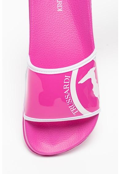 Trussardi Papuci cu detaliu logo Femei