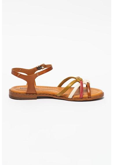 Pikolinos Sandale de piele cu aspect impletit Algar Femei