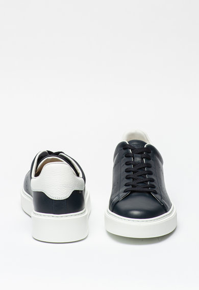 Woolrich Pantofi sport din piele cu varf rotund Barbati