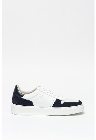 Woolrich Pantofi sport cu insertii din piele si piele intoarsa Barbati