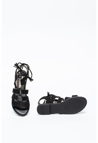 MTNG Sandale de piele intoarsa sintetica cu sireturi Femei