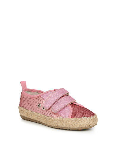 Emu Pantofi cu inchidere velcro si paiete Millner, Roz, Fete