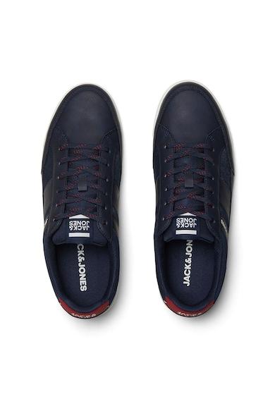 Jack&Jones Pantofi sport de piele ecologica cu insertii de denim Barbati