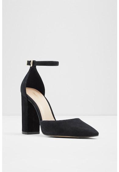 Aldo Pantofi de piele intoarsa cu toc masiv Susan Femei