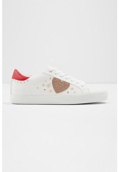 Aldo Pantofi sport de piele ecologica cu strasuri Chaus Femei