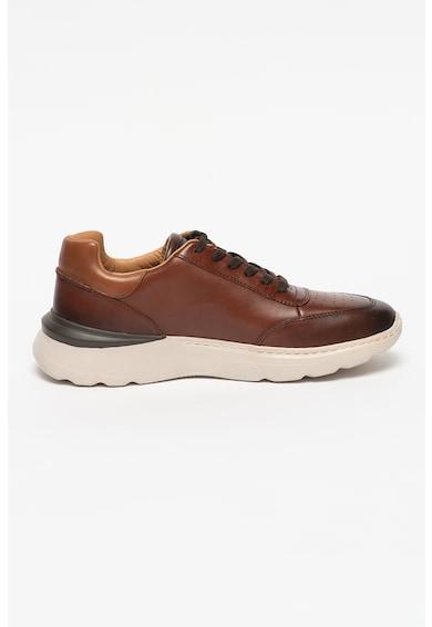 Clarks Pantofi sport de piele cu siret si perforatii Sprint Lice Barbati