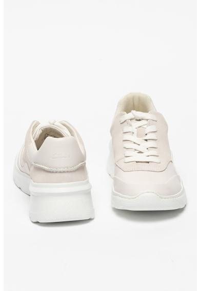 Clarks Pantofi sport de piele si piele intoarsa, cu logo si siret Sprint Lite Femei