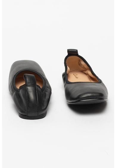 Clarks Balerini de piele cu varf patrat Pure Ballet Femei