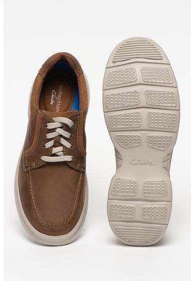 Clarks Pantofi casual de piele si material textil Bradley Vibe Barbati