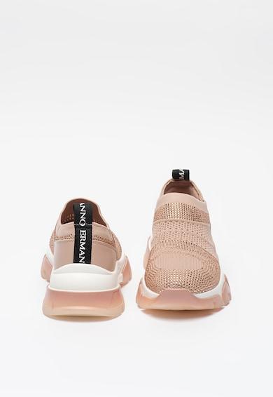 Ermanno Scervino Pantofi sport slip-on de plasa tricotata cu strasuri Femei