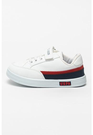 U.S. Polo Assn. Pantofi sport de piele ecologica Jamal Fete
