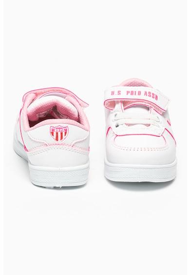 U.S. Polo Assn. Pantofi sport de piele ecologica Cameron Fete