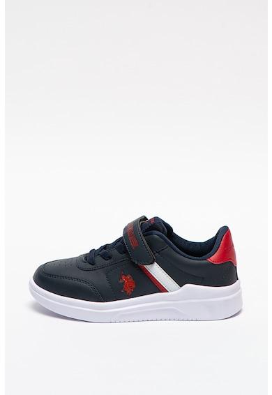 U.S. Polo Assn. Pantofi sport de piele ecologica cu velcro Berkeley Fete