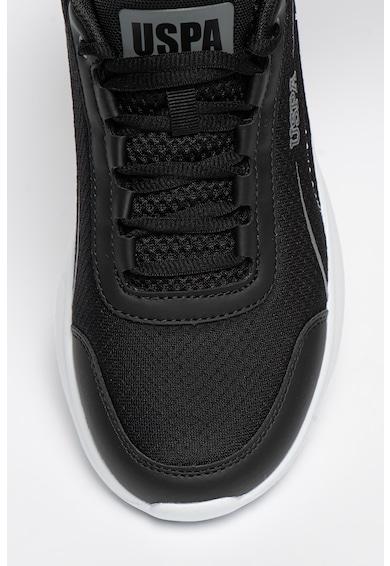 U.S. Polo Assn. Pantofi sport de plasa cu insertii de piele ecologica Marula Barbati