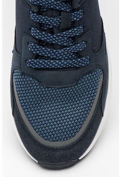 U.S. Polo Assn. Pantofi sport cu garnituri din piele intoarsa ecologica si plasa Larke Barbati