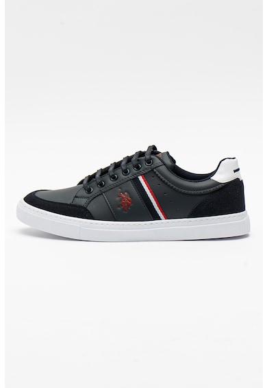U.S. Polo Assn. Pantofi sport din piele ecologica cu imprimeu logo Aren Barbati
