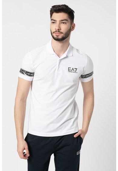 EA7 Tricou polo cu benzi logo Barbati